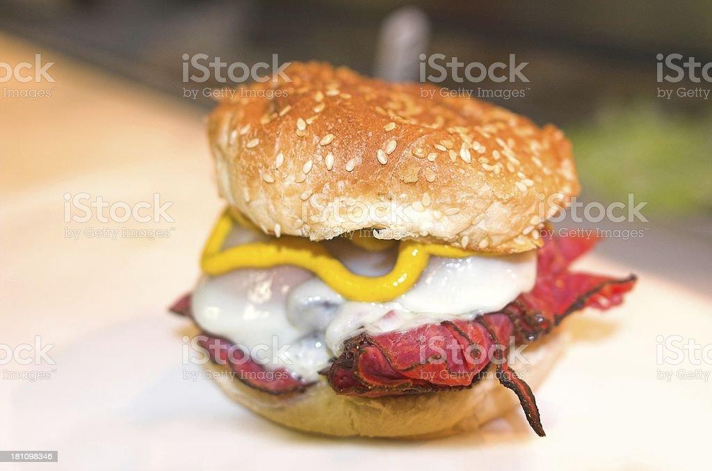 Beef sandwich royalty-free stock photo