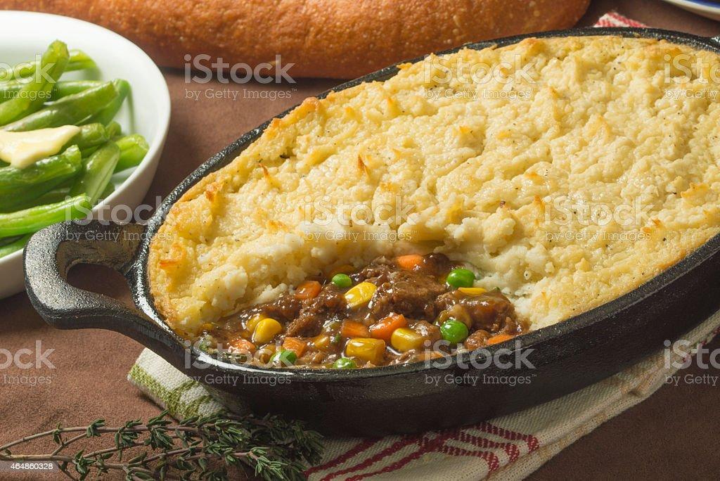 beef shepherds pie stock photo