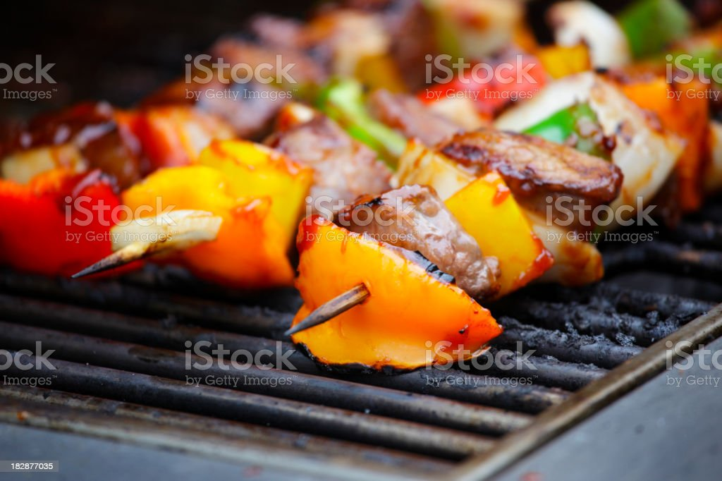 Beef Shish Kebab. royalty-free stock photo