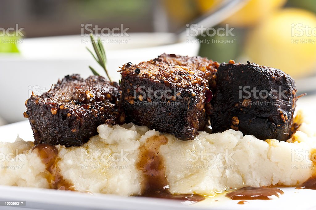Beef short ribs stock photo
