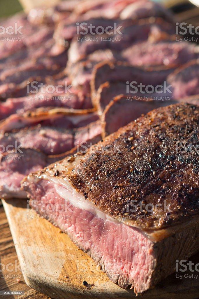Beef Sirloin Bbq stock photo