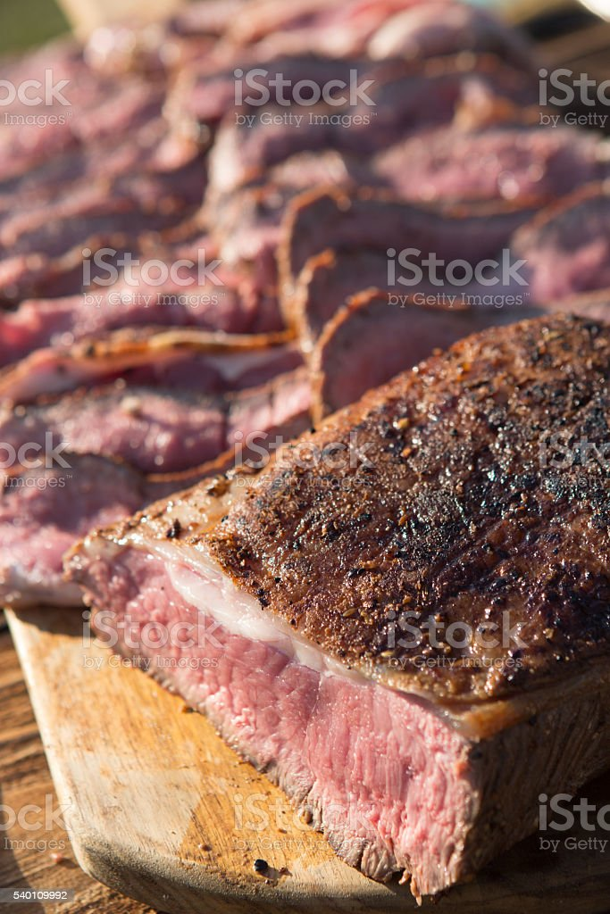Beef Sirloin Bbq stock photo