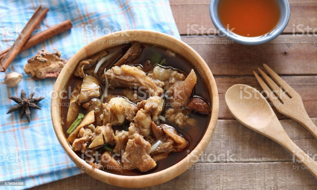 Beef soup stock photo