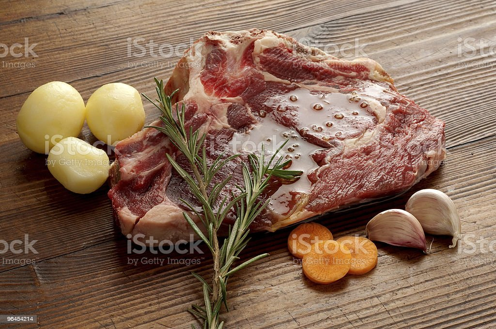 beef steack with ingredients royalty-free stock photo