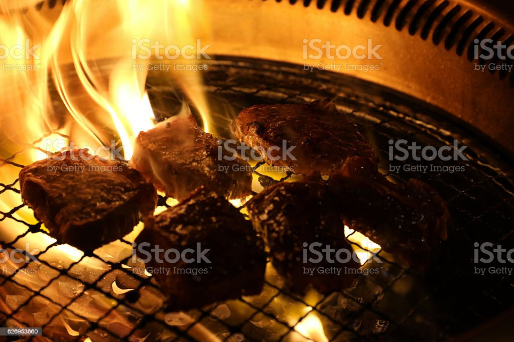 Beef Steak BBQ stock photo