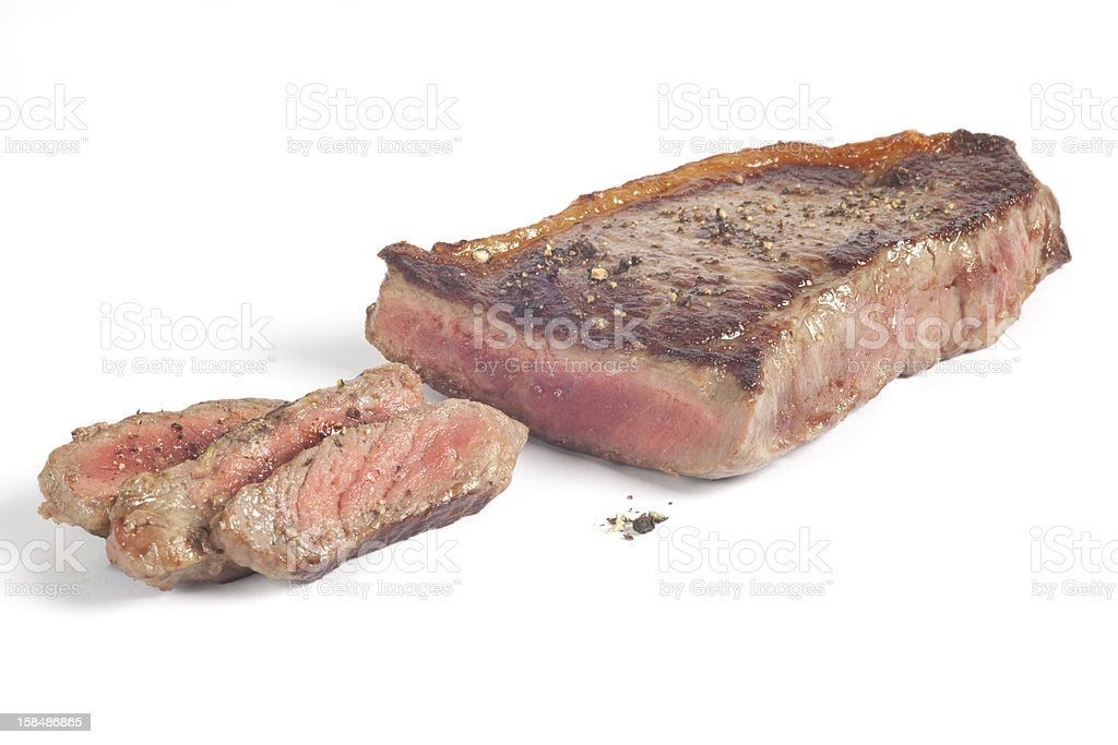 Beef steak cooked rare royalty-free stock photo