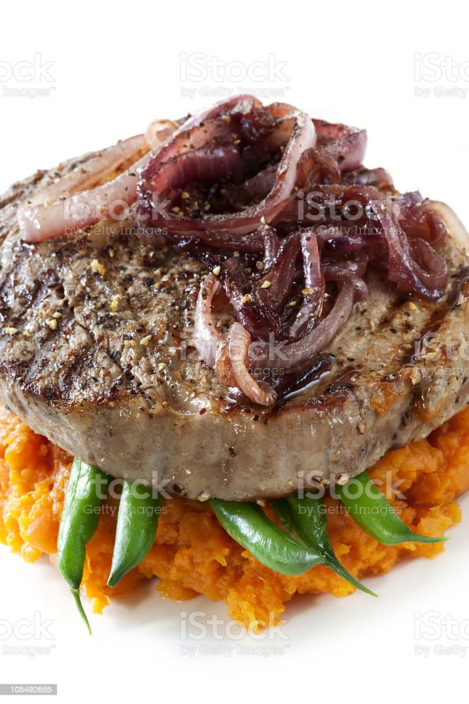 Beef Steak Dinner stock photo