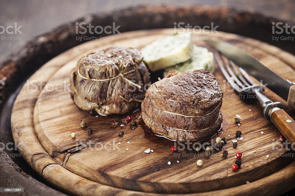 Beef steak filet mignon stock photo