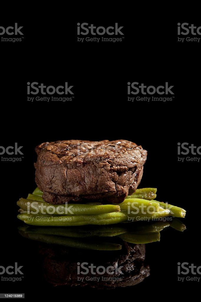 Beef steak with beans royalty-free stock photo