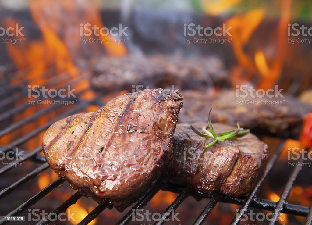 Beef steaks royalty-free stock photo