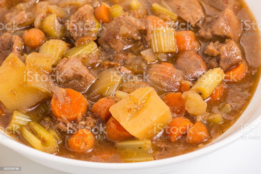 Beef Stew Closeup stock photo