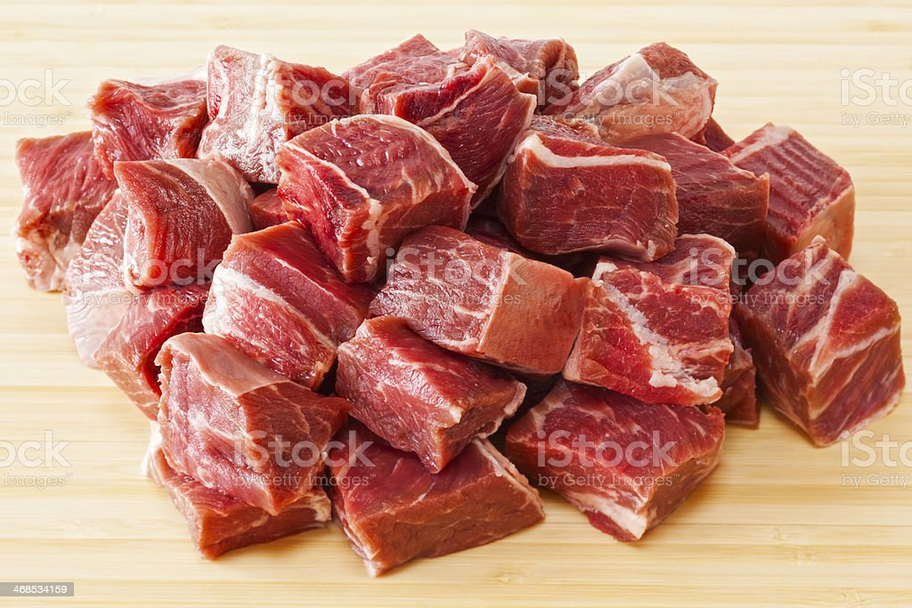 Beef Stew Meat Raw royalty-free stock photo