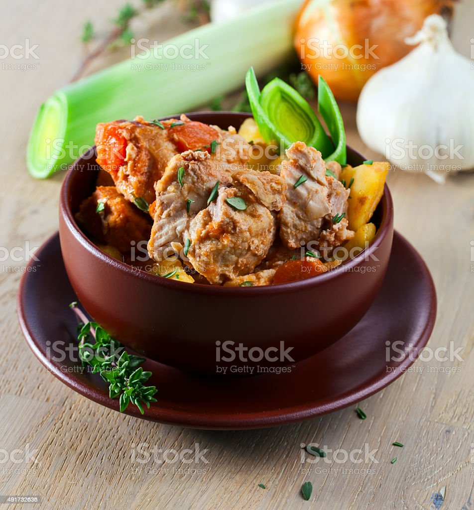 Beef Stew with Carrots and Potatoes stock photo