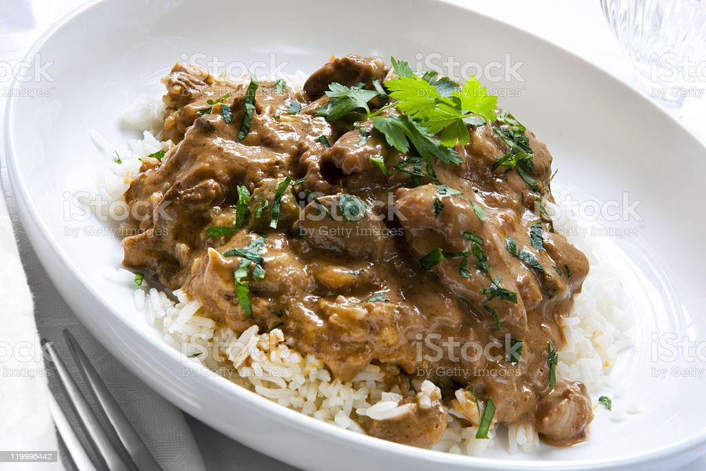 Beef Stroganoff royalty-free stock photo