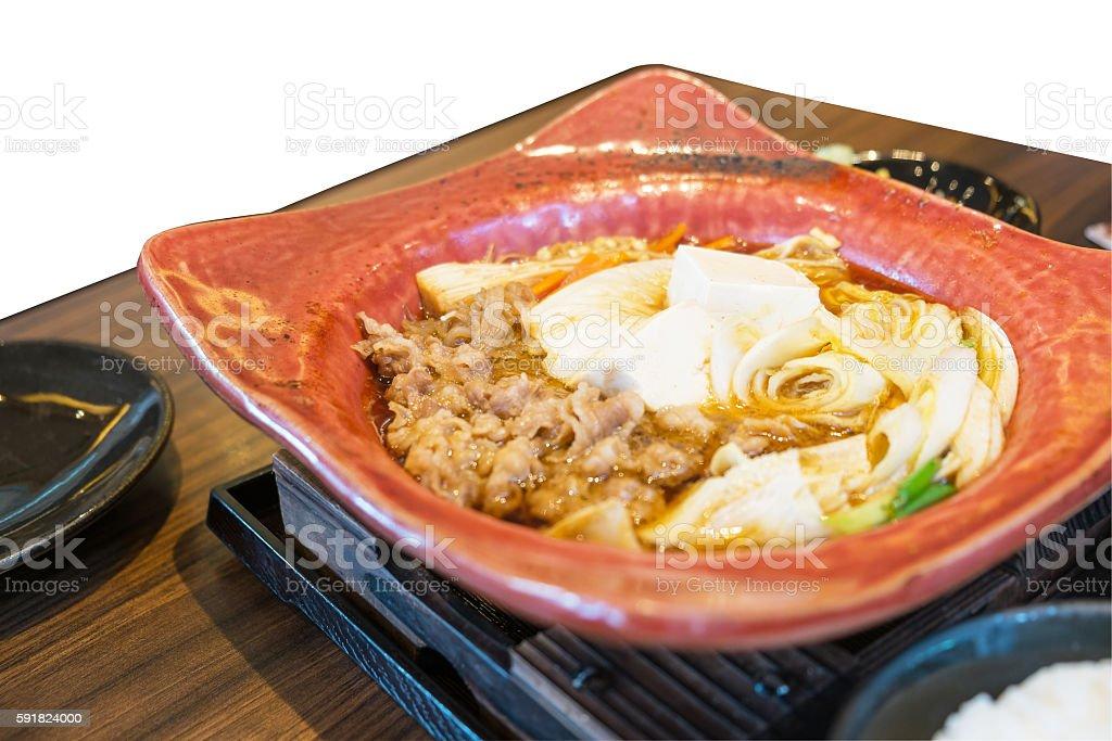 Beef sukiyaki Lizenzfreies stock-foto