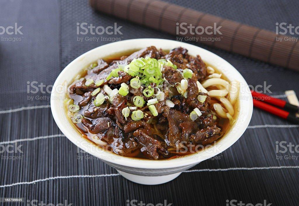 Beef Sukiyaki Udon royalty-free stock photo