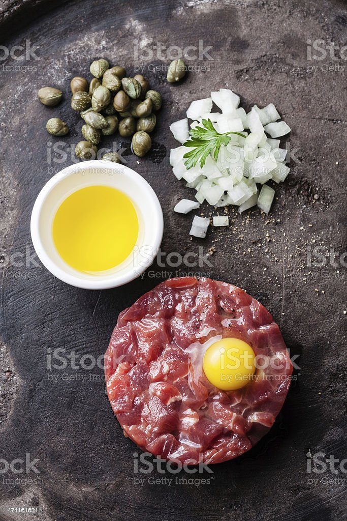 Beef tartare stock photo