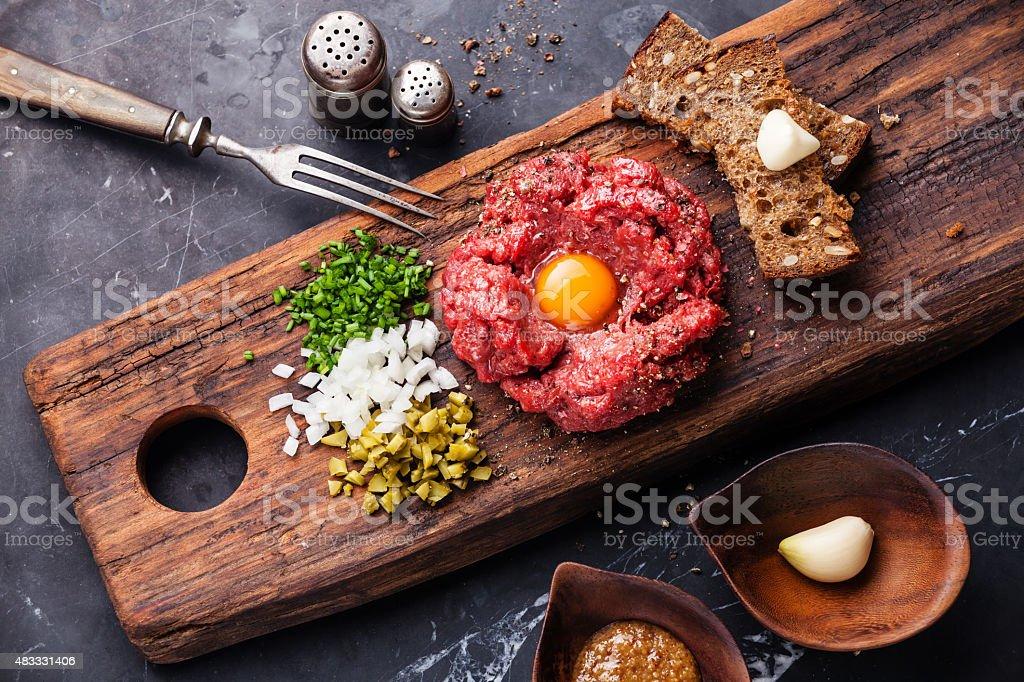 Beef tartare stock photo