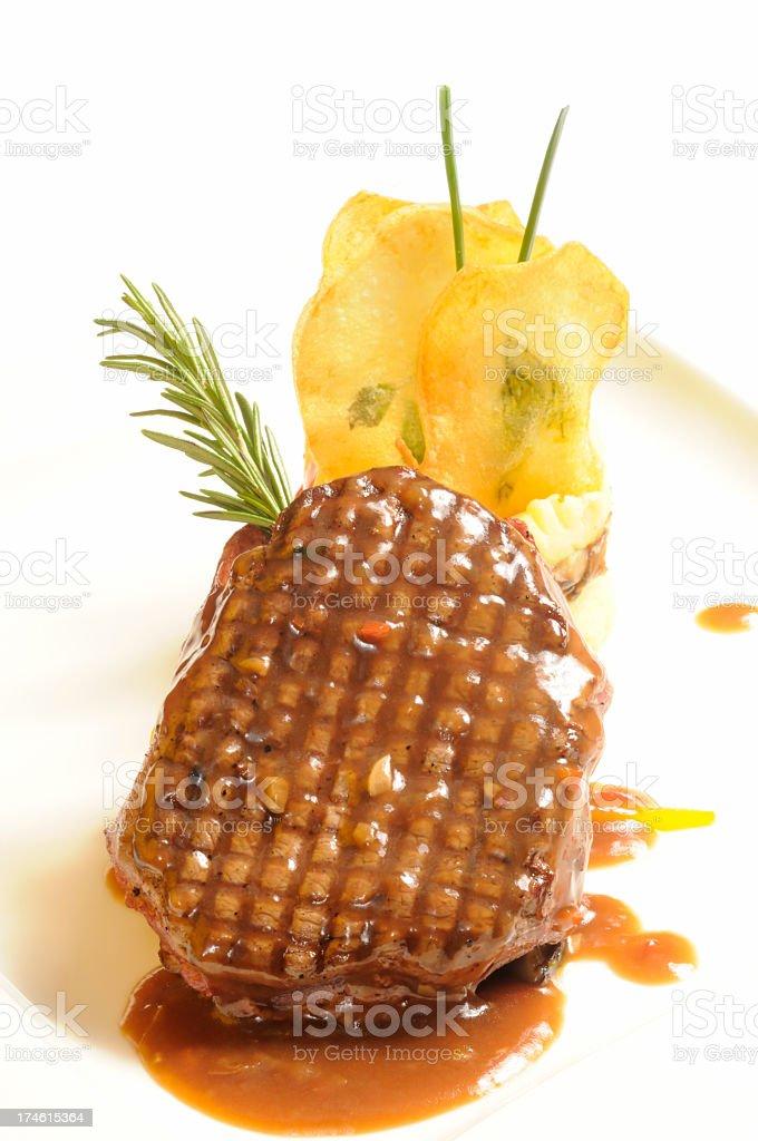 Beef Tenderloin & Patato royalty-free stock photo