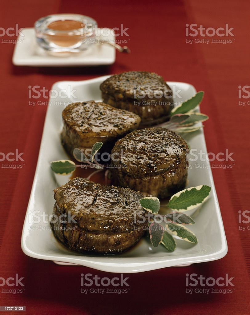 Beef Tenderloin / Filet Mignon with sage royalty-free stock photo