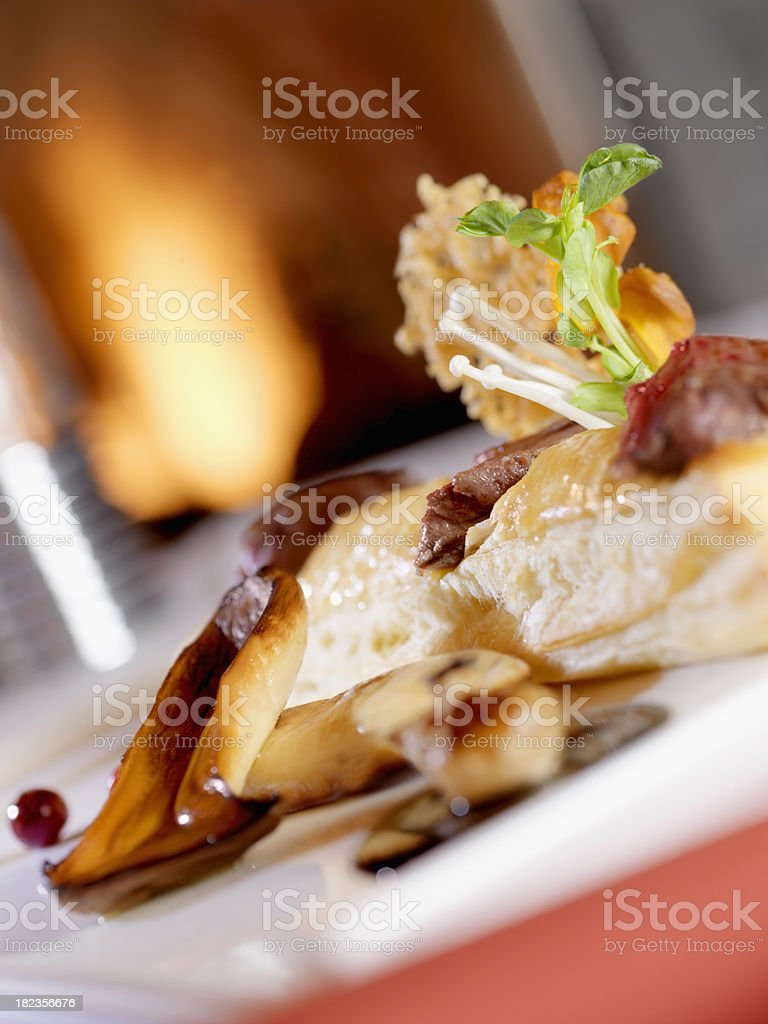 Beef Tenderloin in Phylo Pastry royalty-free stock photo