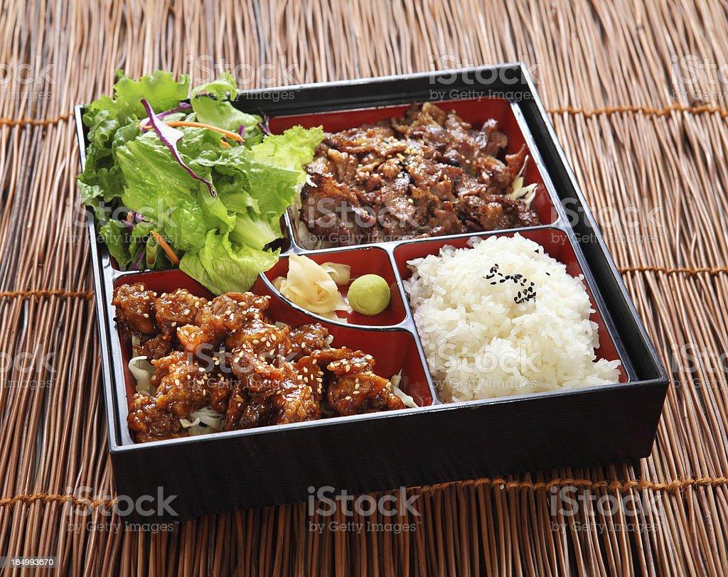 Beef Teriyaki Bento stock photo