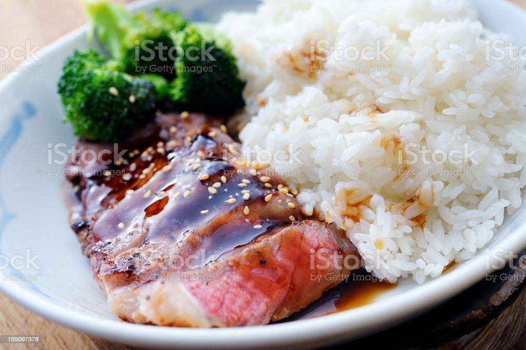 Beef Teriyaki stock photo