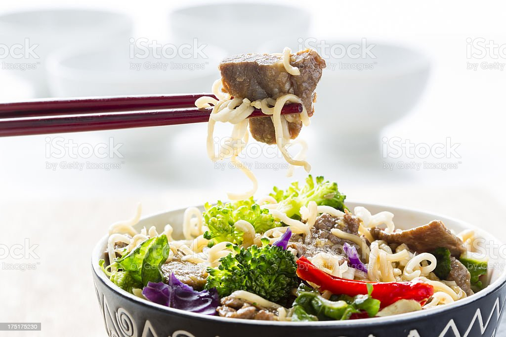 Beef teriyaki stock photo