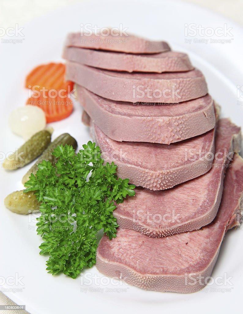 Beef tongue royalty-free stock photo