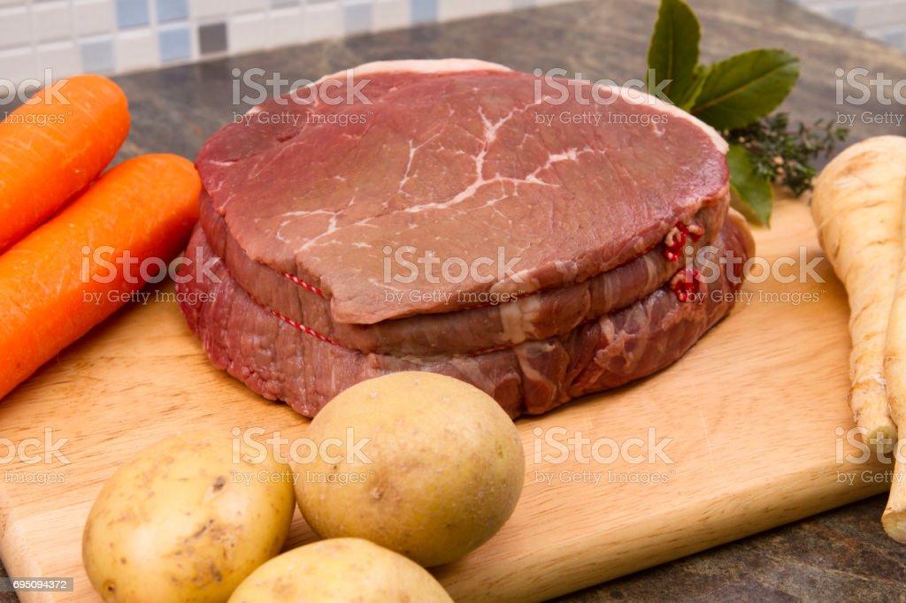 Beef topside stock photo