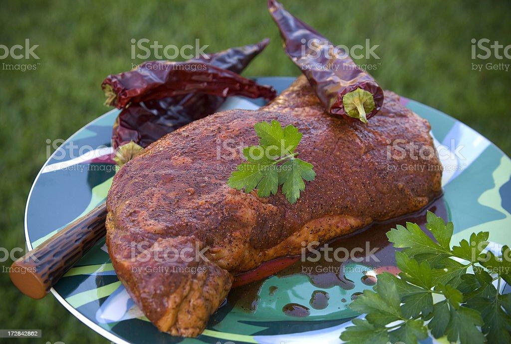 Beef Tri-Tip Sirloin Roast royalty-free stock photo