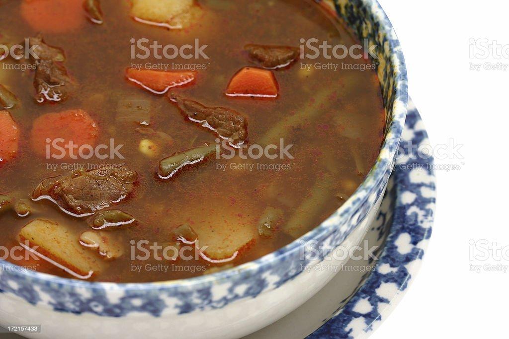 beef vegetable soup stock photo