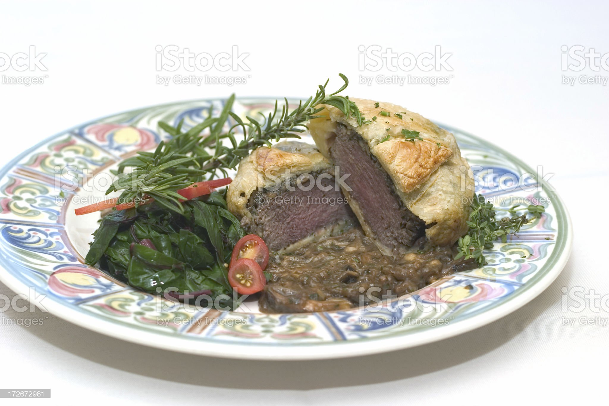 Beef Wellington royalty-free stock photo