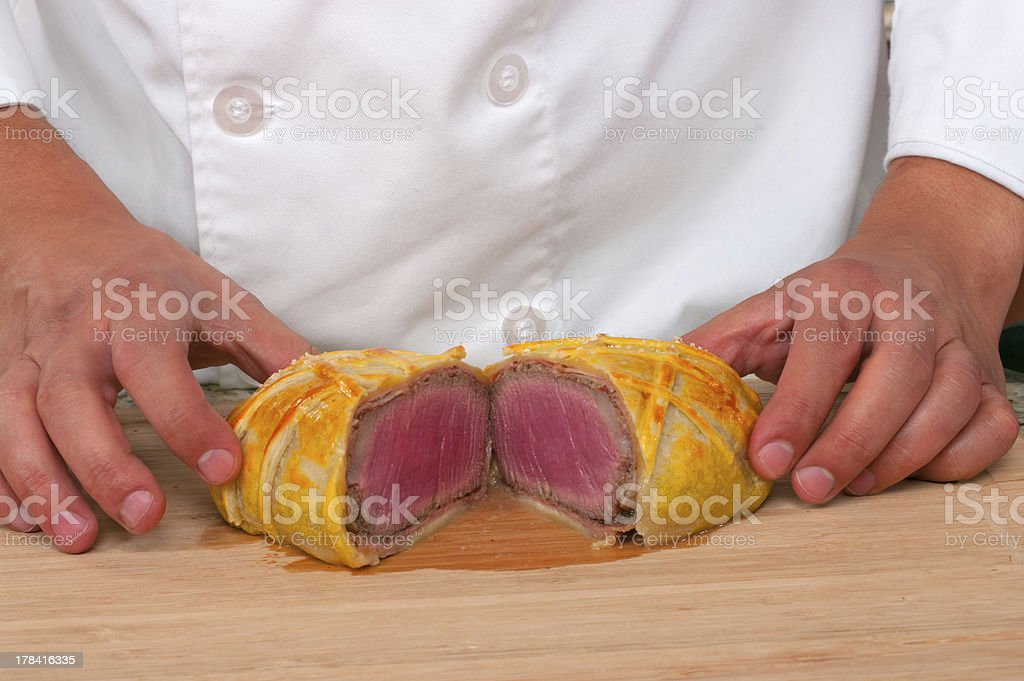 Beef Wellington stock photo