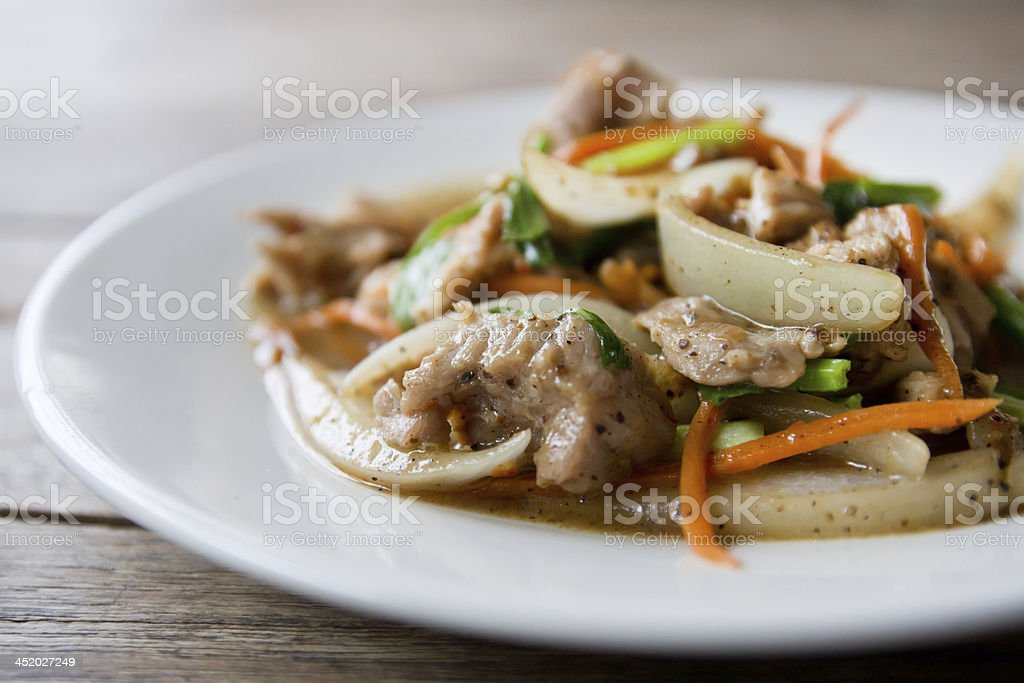 beef with Black Pepper. stock photo