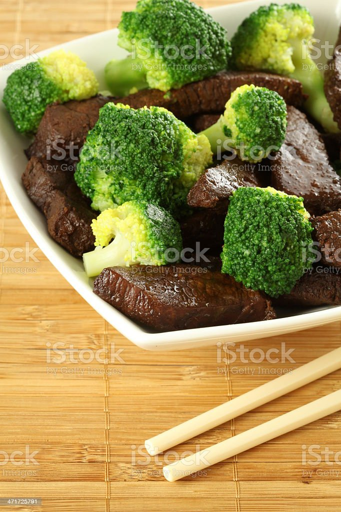 Beef with broccoli royalty-free stock photo