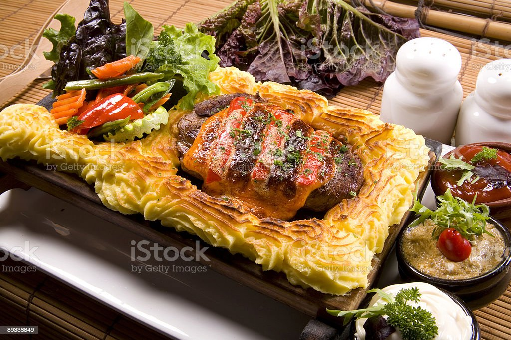 beef with potato pure royalty-free stock photo