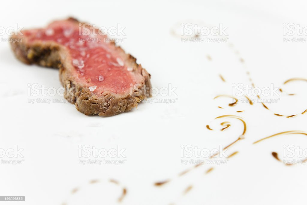 Beef with vinegar drops royalty-free stock photo