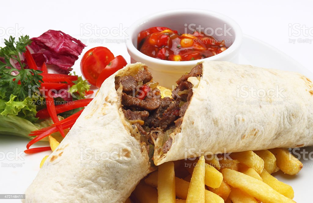 Beef Wrap royalty-free stock photo