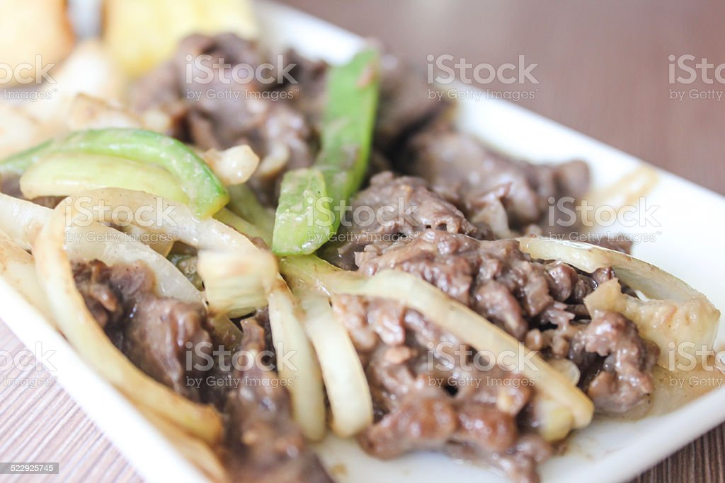 Beef yakiniku stock photo