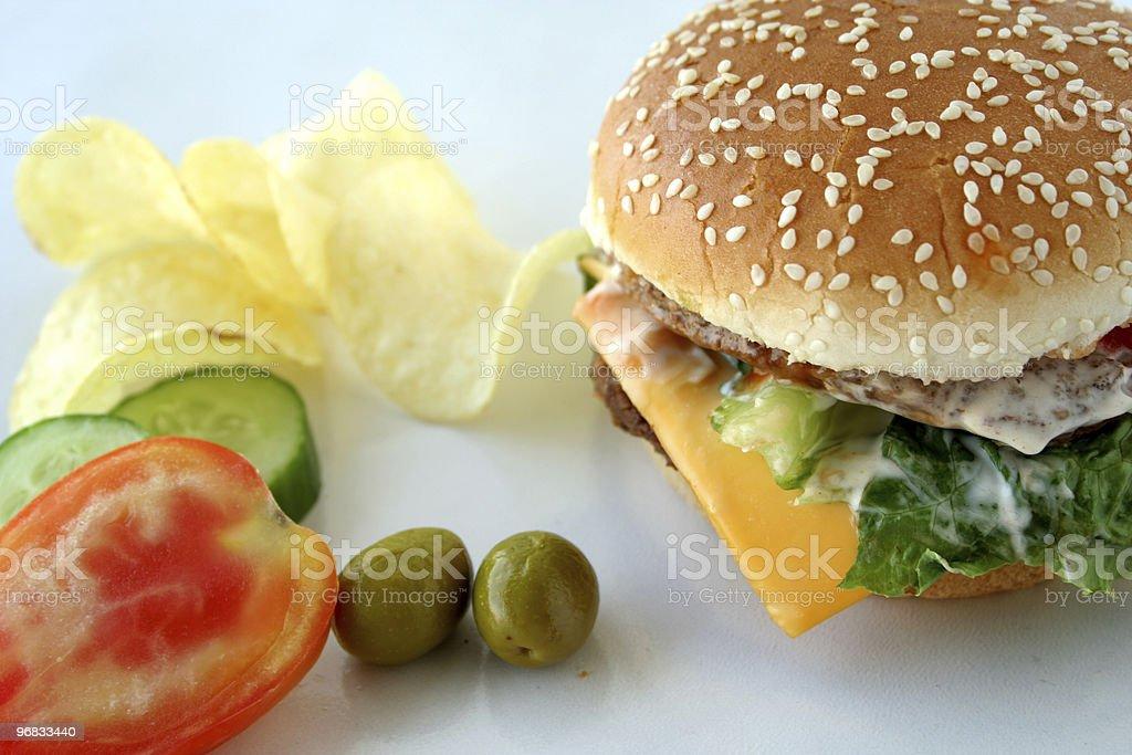 beefburger sandwich royalty-free stock photo