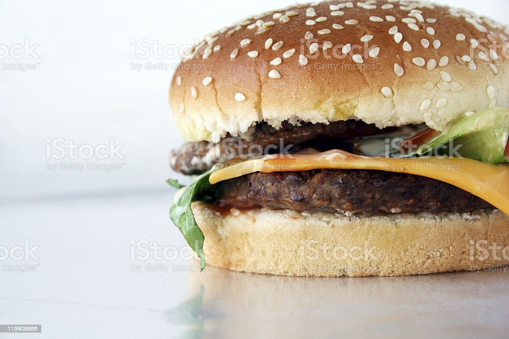 Beefburger with cheese royalty-free stock photo