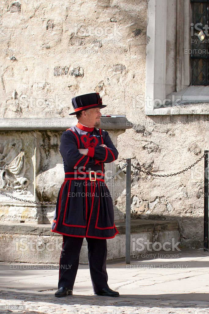 Beefeater royalty-free stock photo