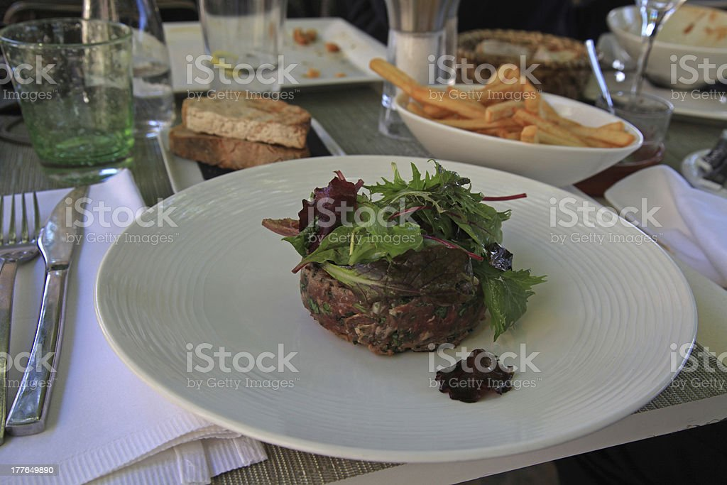 Beefsteak tartar royalty-free stock photo