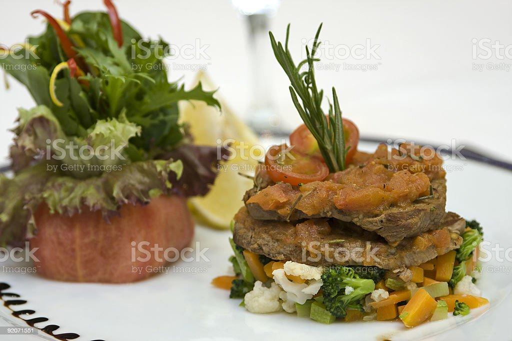 Beefsteak With Tomato Sauce II royalty-free stock photo