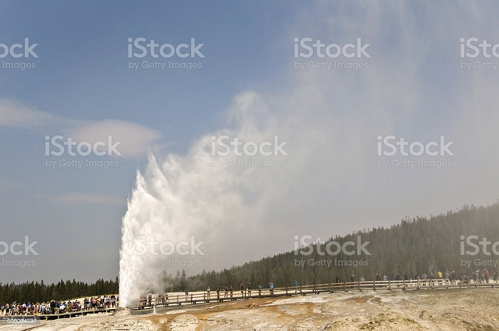 Beehive geyser, Yellowstone National Park, USA stock photo