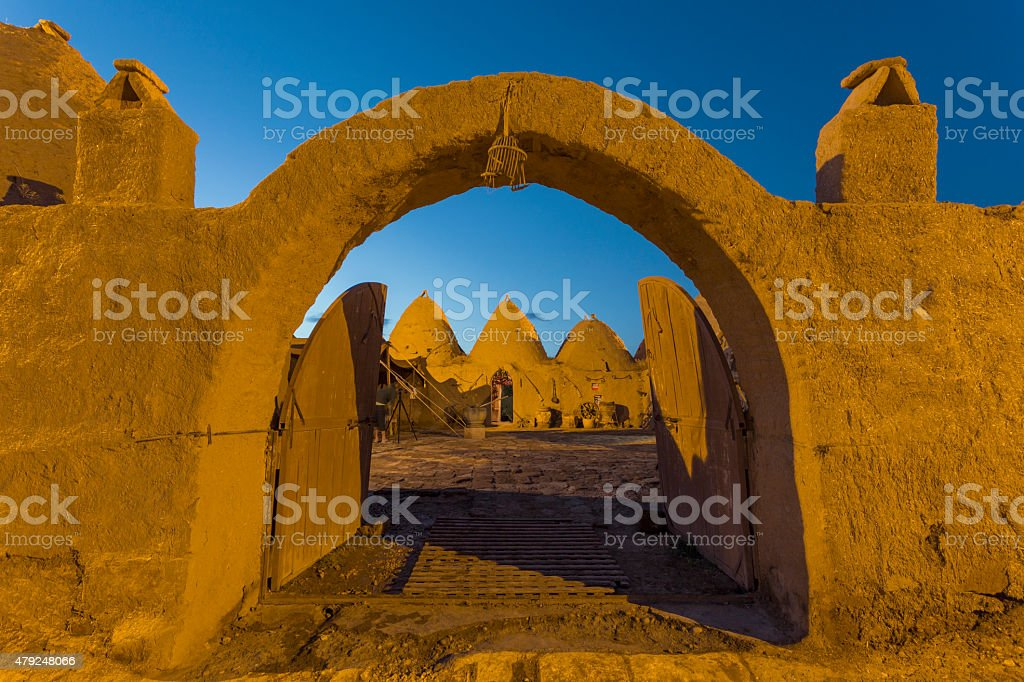 Beehive house at Harran, Turkey stock photo