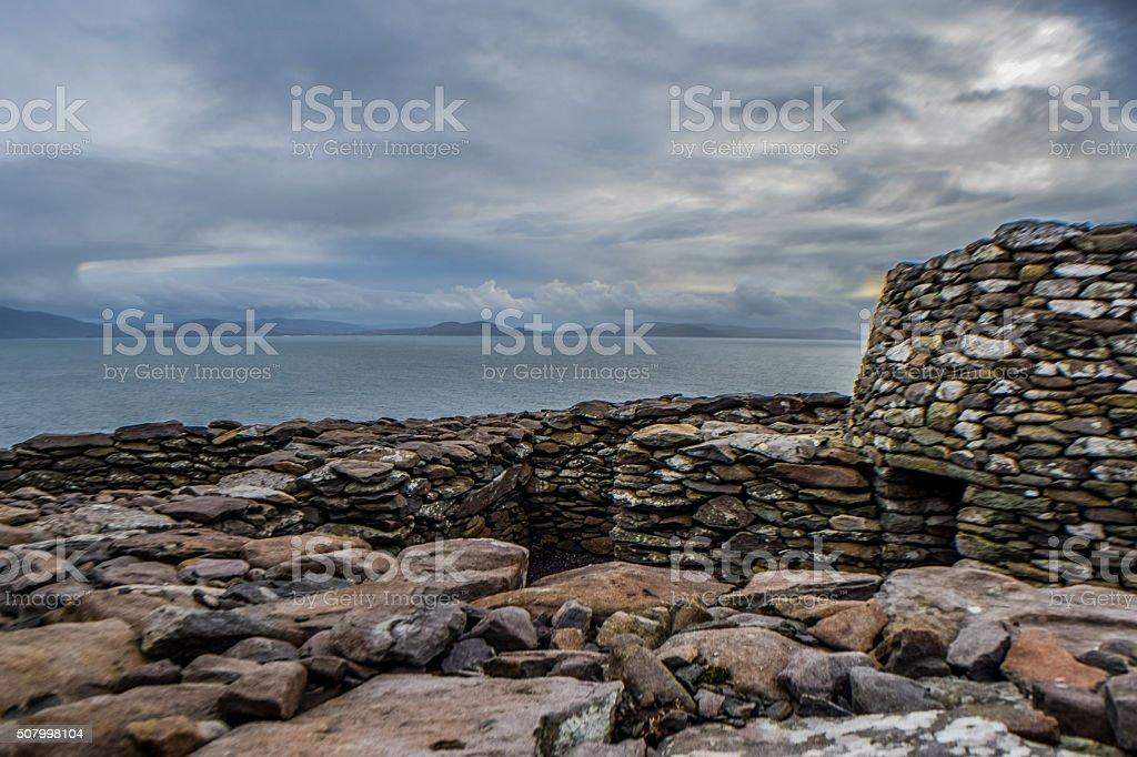 Beehive Hut, Ireland stock photo