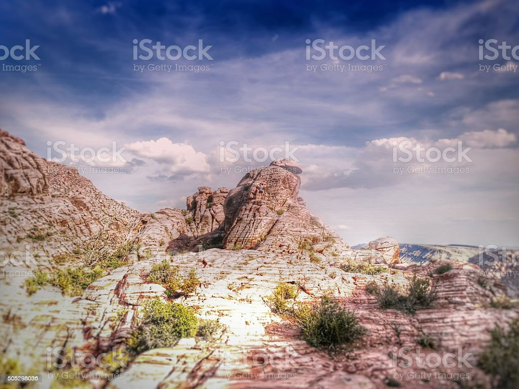 Beehive Sediment Geological Mountain Layer Formations, Red Rock, Nevada stock photo