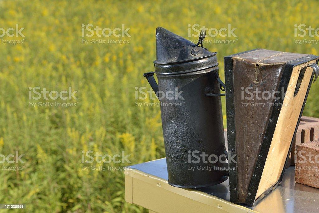 Beehive Smoking Tool royalty-free stock photo